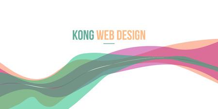 Beuty style Header website abstract design vector art