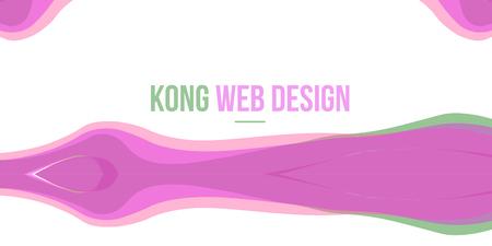 website header: Pink design Abstract header website