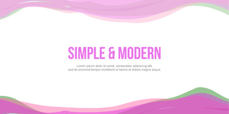 Abstract header website pink green wave vector illustration