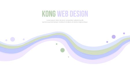 Abstract header website wave and bubble design