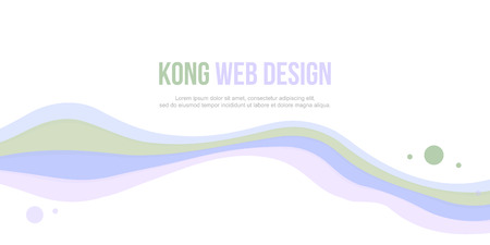 Abstract header website bubble and wave design art Illustration