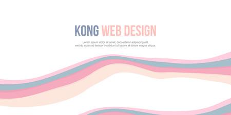Abstract header website design