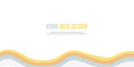 Abstract background for header website wave design