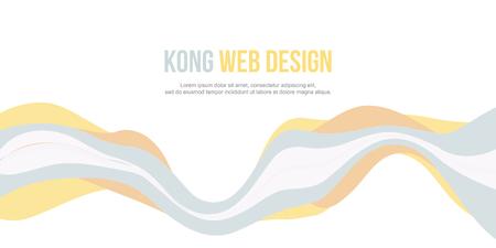 Abstract background for header website wave design vector art illustration Illustration