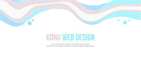 website header: Website header colorful wave design