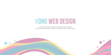 Website header colorful wave design.