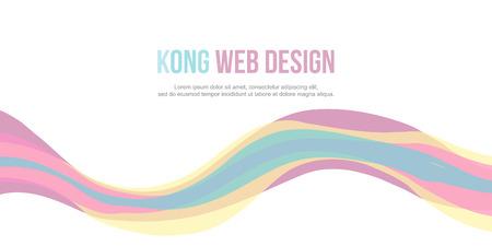 Abstract website header simple design illustration
