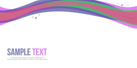 Abstract background design website header collection Illustration
