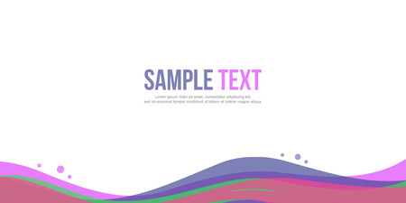 Collection Abstract background design website header Illustration