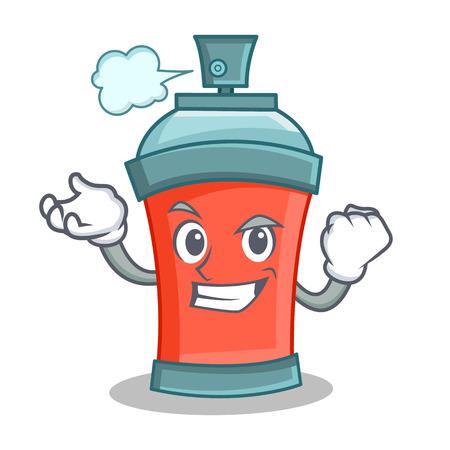 Successful aerosol spray can character cartoon vector illustration