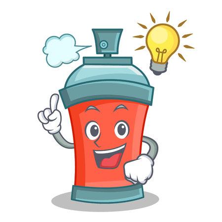 Have an idea aerosol spray can character cartoon illustration