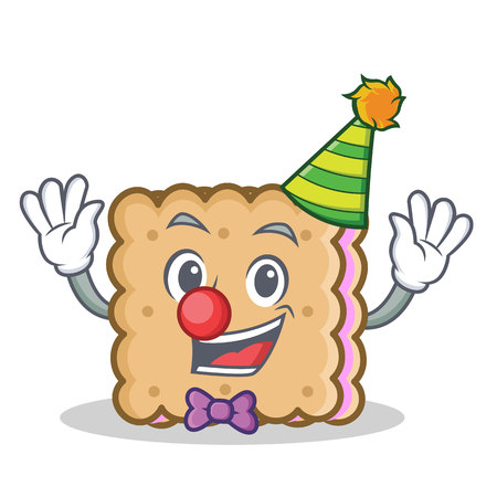 Clown biscuit cartoon character style vector illustration Illustration