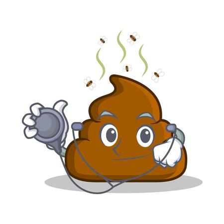 Doctor Poop emoticon character cartoon