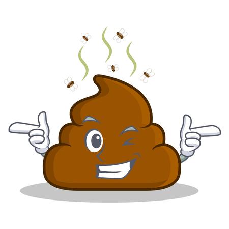 Wink Poop emoticon character cartoon