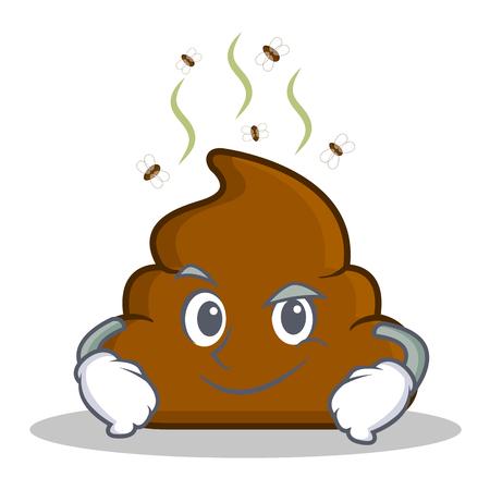 Smirking Poop emoticon character cartoon