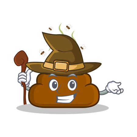 Witch Poop emoticon character cartoon vector illustration Illustration