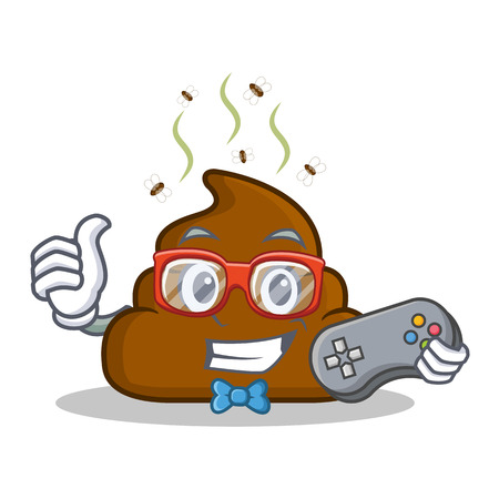 turd: Gamer Poop emoticon character cartoon