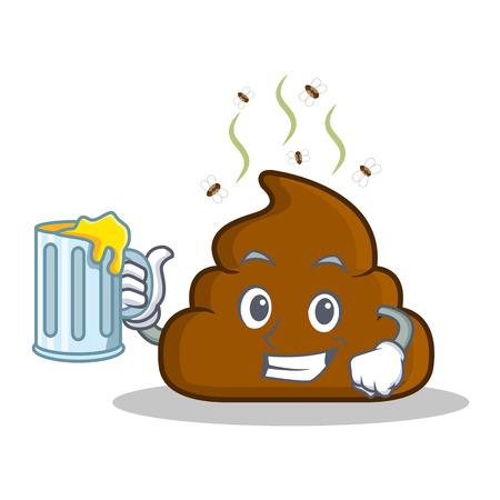 With juice Poop emoticon character cartoon