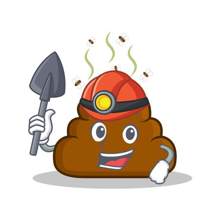 Miner Poop emoticon character cartoon