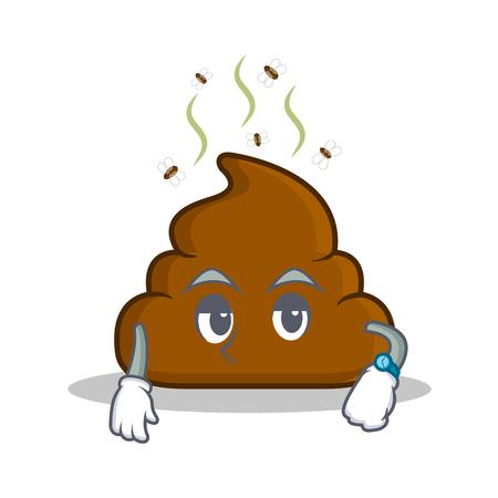 turd: Waiting Poop emoticon character cartoon