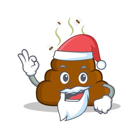 Santa Poop emoticon character cartoon