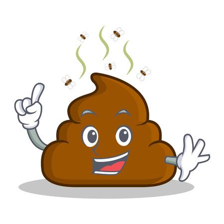 Finger Poop emoticon character cartoon Zdjęcie Seryjne - 84555497