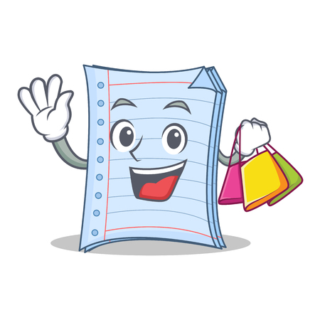 Shopping notebook character cartoon style
