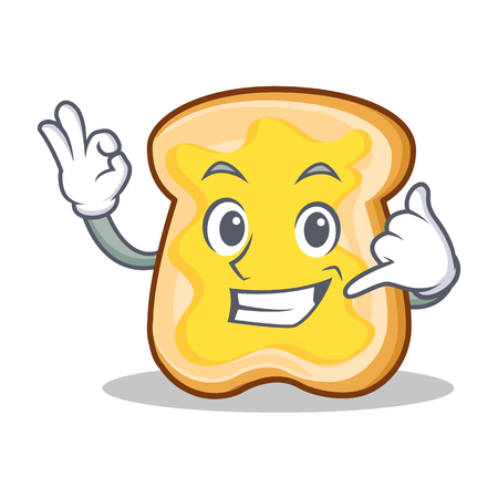 Call me slice bread cartoon character vector art illustration Illustration