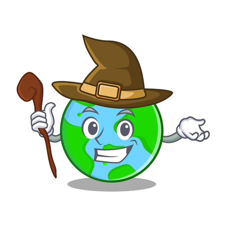 ball point: Witch world globe character cartoon