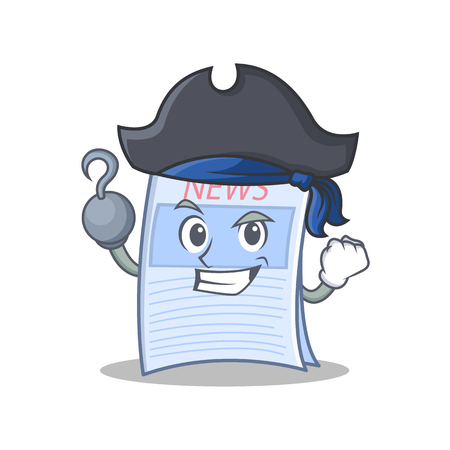 Pirate newspaper character cartoon style