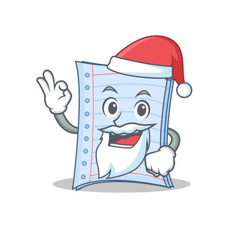 Santa notebook character cartoon design