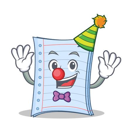 Clown notebook character cartoon design
