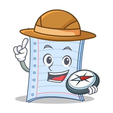Explorer notebook character cartoon design Illustration