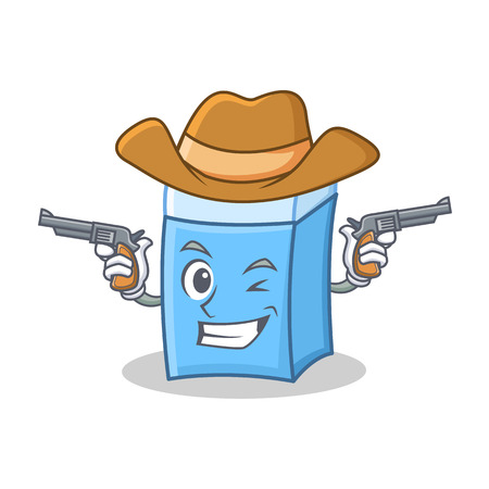 Cowboy eraser character mascot style