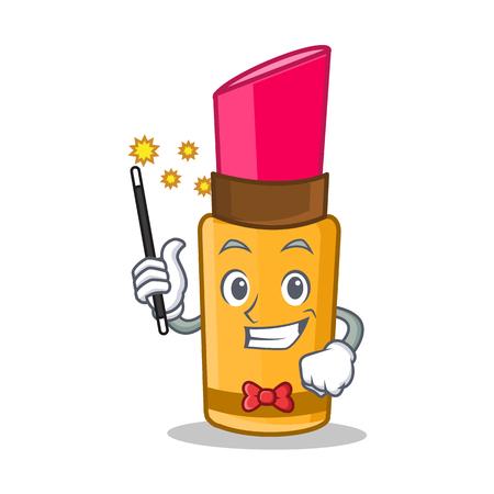 Magician lipstick character cartoon style Illustration