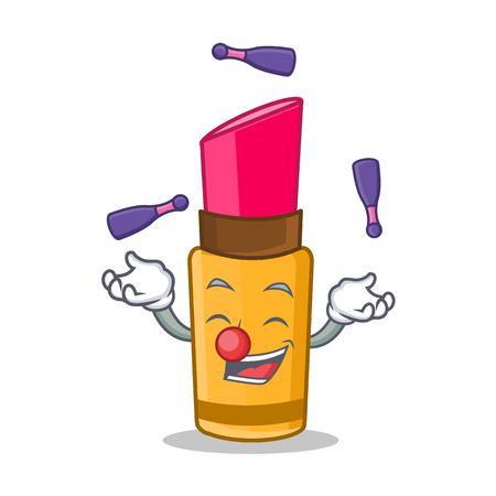 Juggler lipstick character cartoon style