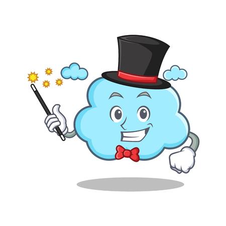 love cloud: Magician cute cloud character cartoon vector illustration