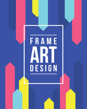 Collectie stijl frame art graphics Stock Illustratie