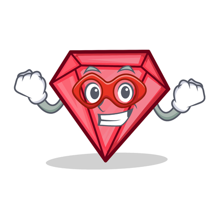 Super hero diamond character cartoon style vector illustration Illustration