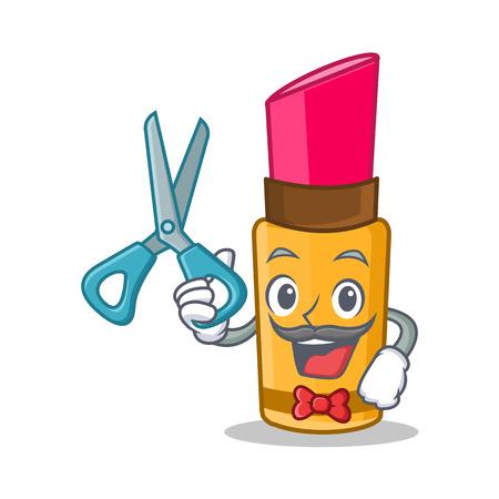 Barber lipstick character cartoon style