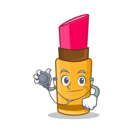 Doctor lipstick character cartoon style vector illustration