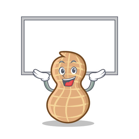 Up board peanut character cartoon style vector illustration