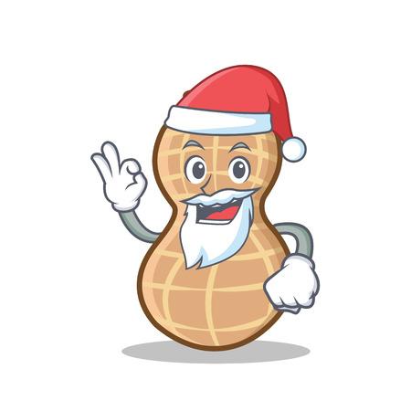 Illustration vectorielle de Santa arachide personnage cartoon style