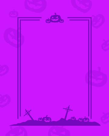 Collection frame Halloween theme style vector illustration