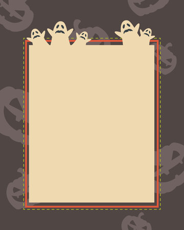 Frame of Halloween theme style collection vector illustration Stok Fotoğraf - 85818328