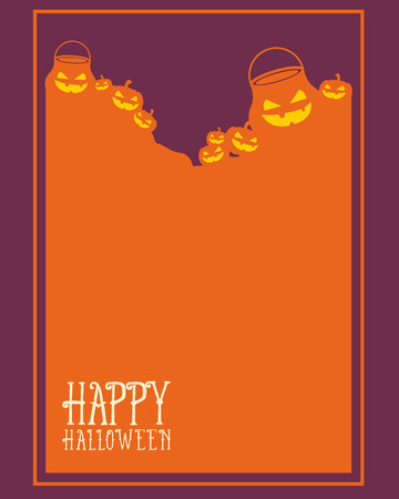 Halloween frame style unique collection vector illustration