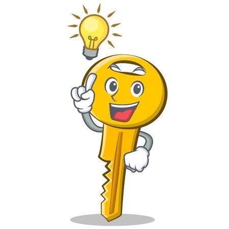 Have an idea key character cartoon style vector illustration