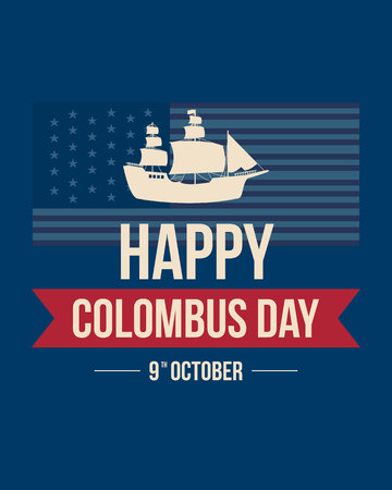 Columbus day celebration background design vector illustration