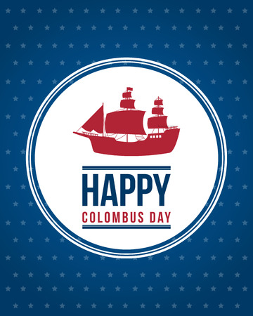 Happy Columbus Day background design vector illustration Illustration