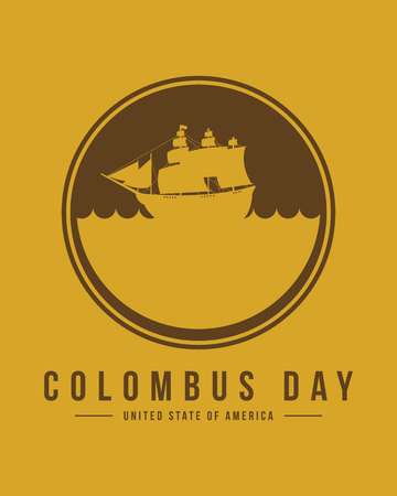 Columbus day card background design vector illustration Illustration